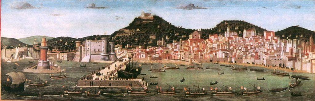 Tavola Strozzi porto antico di Napoli