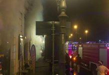 Incendio a Napoli: bar Il Chicco d'oro