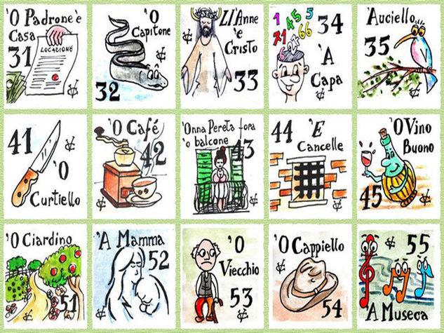 La smorfia napoletana il significato dei numeri della cabala for Tabellone tombola napoletana da stampare
