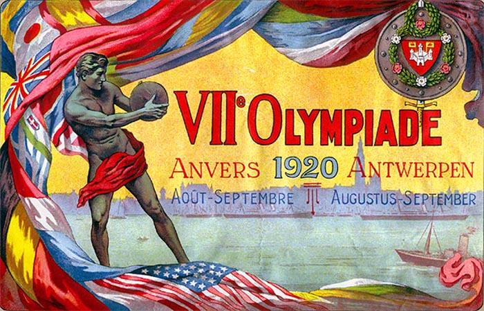 """Le Olimpiadi di Anversa 1920 aperte con la canzone """"'O Sole Mio"""""""