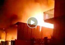 Incendio a Giugliano: fiamme lambiscano le abitazioni
