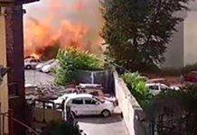 Incendio al Vomero, su Facebook: polemica per un post