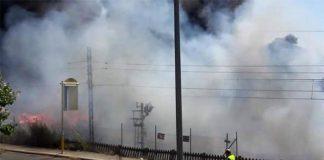Circumvesuviana Napoli Sorrento: incendio sulle rotaie