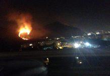 Incendio a Pozzuoli: fiamme vicino le abitazioni