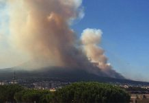 Incendio sul Vesuvio: 6 luglio 2017