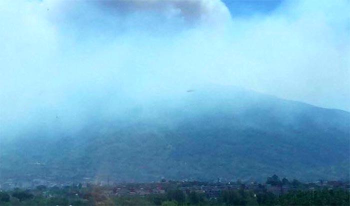 """Incendi sul Vesuvio sono dolosi: """"criminali armano i piromani"""""""