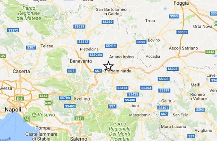 Terremoto oggi, Avellino: 5 scosse in un giorno