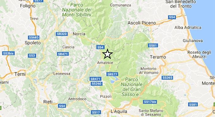 Terremoto oggi, Rieti: registrate due scosse di media intensità