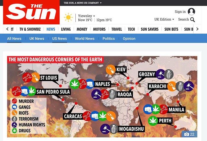 """Fake news del """"Sun"""": Napoli non è la più pericolosa del mondo"""