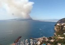 Incendio sul Vesuvio: devastata un'altra area