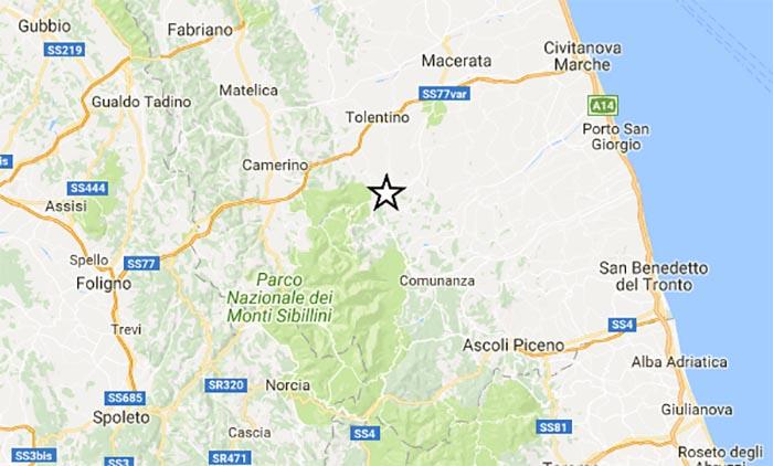 Terremoto oggi, Marche: durante la notte una scossa di media intensità