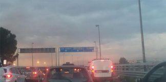Incidente sull'Asse Mediano: lunga colonna di traffico