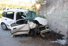 Incidente a Boscoreale, una vittima: si schianta contro un muro