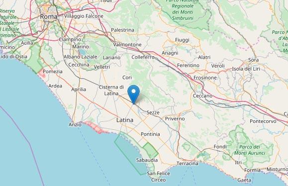 Terremoto oggi, Latina: magnitudo 2.8 avvertito anche in Campania