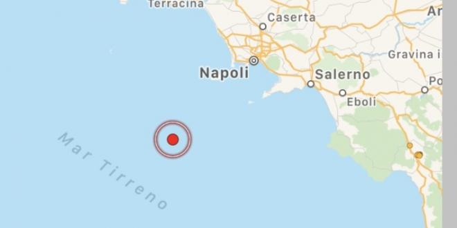 Terremoto nel golfo di Napoli con una magnitudo di 3.7