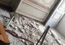 Reggia di Caserta: crolla un soffitto settecentesco