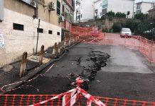 Soccavo, cede manto stradale: sgomberato intero edificio