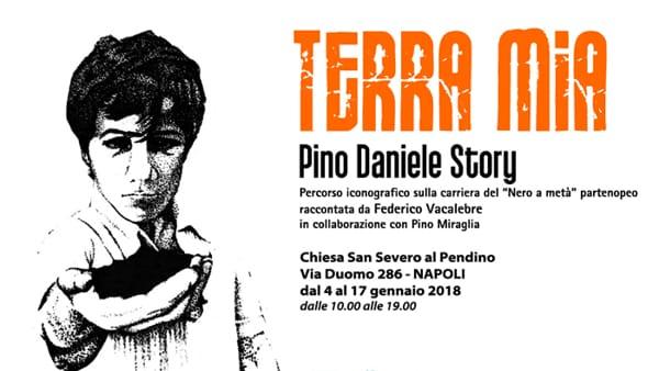 """""""Terra Mia - Pino Daniele Story"""": l'emozionante mostra sul nero a metà"""