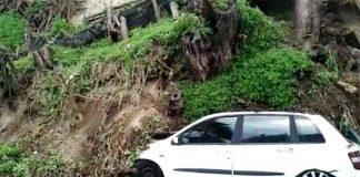 Maltempo, Posillipo: crolla terrapieno, paura fra i residenti