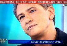 """Lorenzo Crespi a Domenica Live: """"la verità choc e le minacce di morte"""""""
