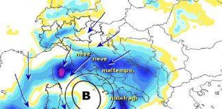 Meteo Napoli: il ritorno di Burian con piogge e neve