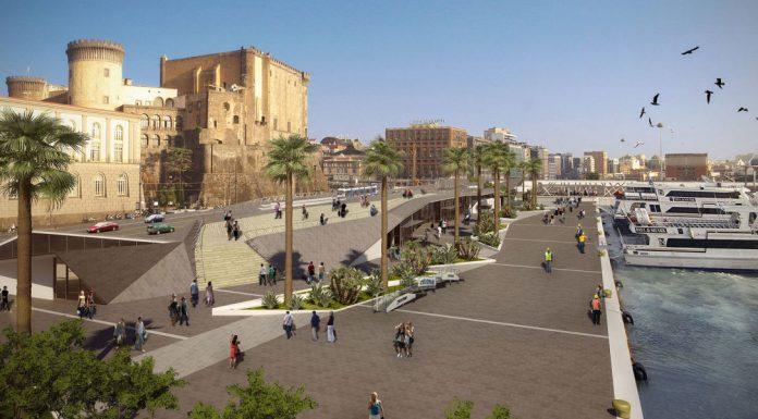 Porto di Napoli, restyling da sogno: nel rendering anche i venditori ambulanti