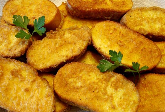 Ricetta del pane fritto napoletano con uova e latte