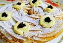 Ricetta torta di zeppole o zeppolone di San Giuseppe al forno