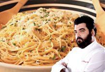 Ricetta spaghetti aglio e olio con crema di cavolfiore di Cannavacciuolo