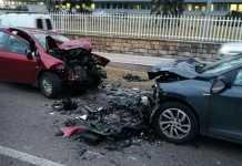 Incidente a Mugnano: violento scontro frontale tra due vetture