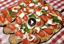 Ricetta del rotolo di melanzane farcito: parente della parmigiana