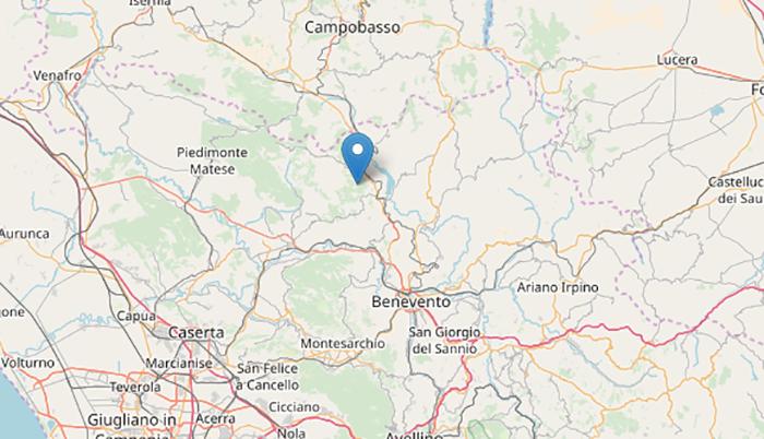 Terremoto oggi, Benevento: sisma di magnitudo 3.0