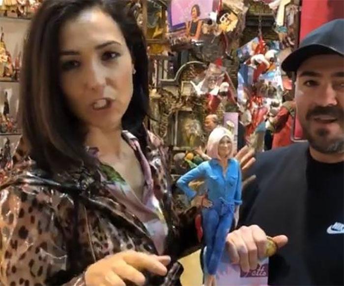 Caterina Balivo a San Gregorio Armeno per la statuina presepiale