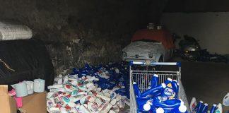 Scampia: sequestrata fabbrica di detersivi contraffatti
