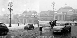 Neve a Napoli dal 1956 al 2018: ieri come oggi