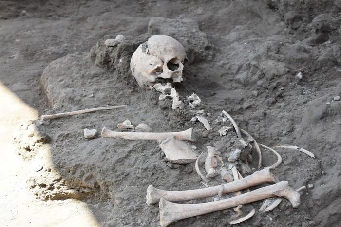 Pompei, ritrovato negli scavi lo scheletro di un bimbo di 8 anni