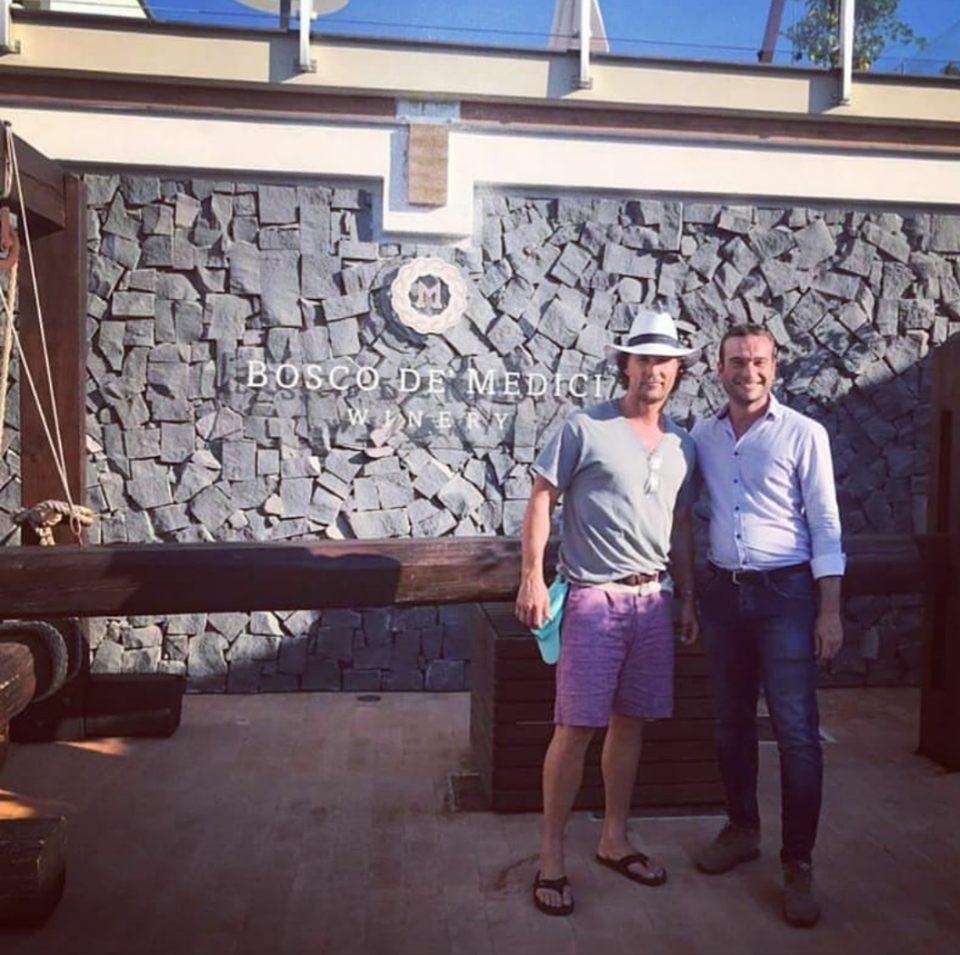 Mattew McConaughey a Pompei: il divo hollywoodiano in Campania