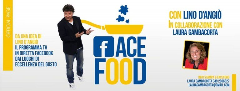 "Lino D'Angiò in ""FaceFood"": un nuovo programma tv social"