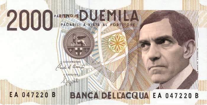 """Il sindaco sulla 2000 lire: il """"luigino"""" partorito dall'ironia partenopea"""
