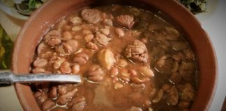 Ricetta della zuppa fagioli e castagne lesse napoletana