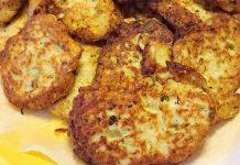 Ricetta frittelle di cavolfiore al forno