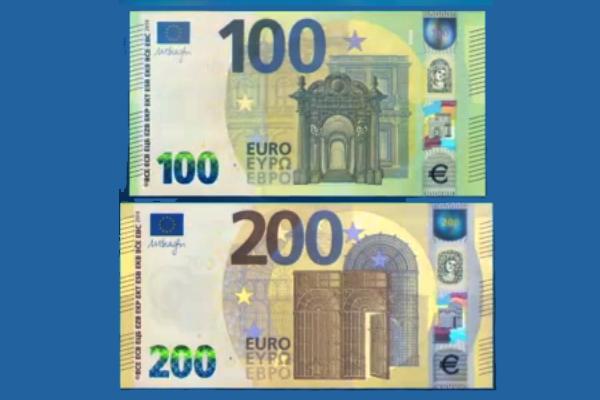 Nuove banconote da 100 e 200 euro in arrivo