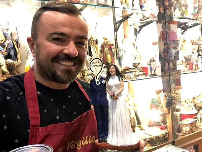 Pamela Prati e Mark Caltagirono sono finiti a San Gregorio Armeno