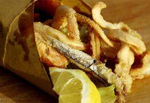Ricetta cuoppo alici fritte dello street food partenopeo