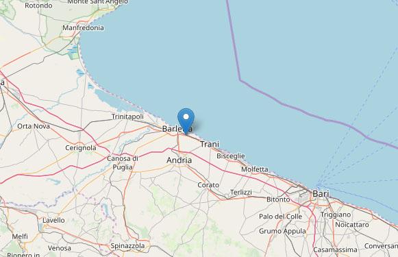 Terremoto oggi, Puglia: forte scossa di magnitudo 3.9
