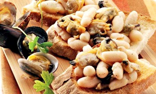 Ricetta bruschette fagioli e cozze: l'incontro perfetto