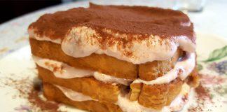 Ricetta del tiramisù con fette biscottate