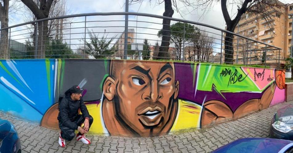 Murale Kobe Bryant, Raffo Art, Casalnuovo