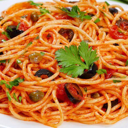 Ricetta spaghetti olive e capperi dalla terra del Sud
