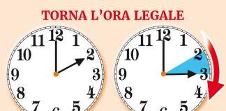 Cambio dell'ora 2020: torna l'ora legale